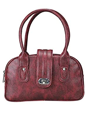 Khadim's Maroon Synthetic Solid Casual Tote Bag for Women - UK OS