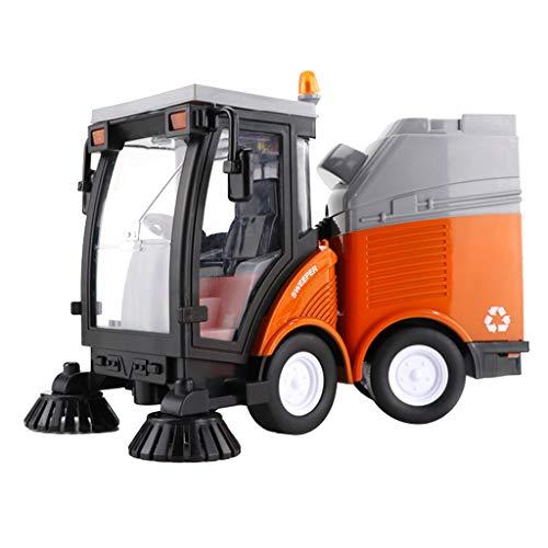 Baoblaze Kehrmaschine inkl. Mülltonne Strassenreinigungsfahrzeug mit Licht und Sound Spielzeugauto Spielzeug, Wunderbares Geschenk für Kinder