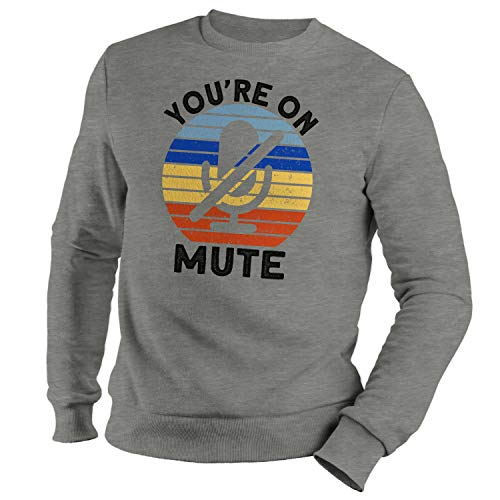 GR8Shop You Are On Mute Sudadera Gris Unisex Size XXL