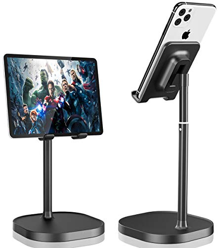 Cell Phone Stand,2021 Upgrade Angle Height Adjustable Phone Stand for Desk, Thick Case Friendly Phone Holder Stand for Desk, Compatible with All Mobile Phones,iPhone,Switch,iPad,Tablet(4-10in)