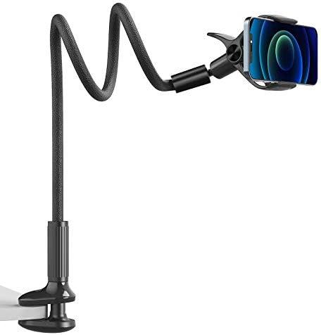 Gooseneck Phone Mount Holder SAIJI Flexible Long Arm 360 Adjustable Ball Head for Bed Lazy Bracket product image