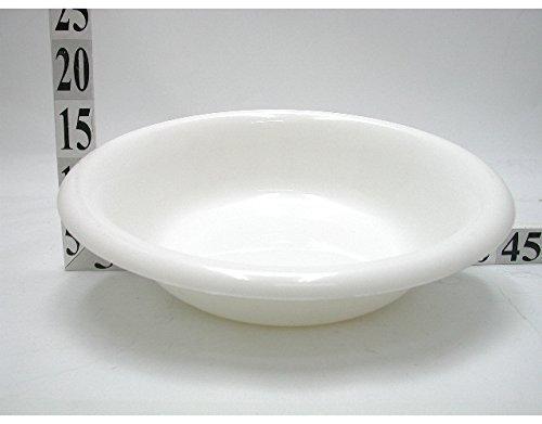 Catino Bacinella contenitore per acqua In plastica colore Bianco diam 34Cm