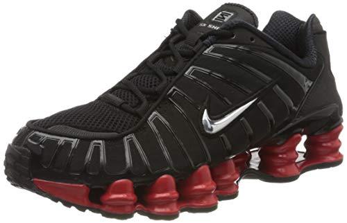 Nike Shox TL/Skepta, Zapatillas para Correr para Hombre, Black Metallic Silver University Red, 42.5 EU