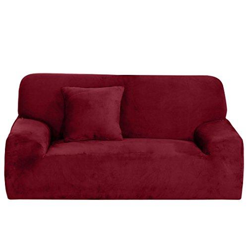Sourcingmap Housse extensible Forme ajustée, antidérapant, élégant protecteur pour meubles tels qu'un canapé, doux et léger. Housse de canapé de 139,7 cm à 190,5 cm, Geometric Pattern, Loveseat-2seater