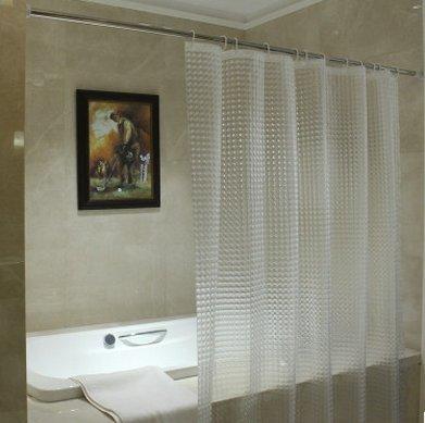 Vi.yo Rideau de Douche, étanche et Anti-moisissure, Rideaux de Salle de Bains 3D EVA Transparents, 180 * 180 cm