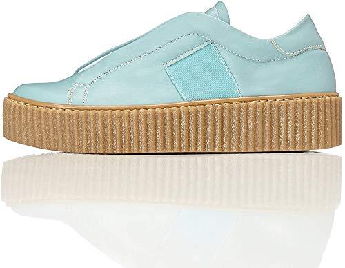 find., Zapatillas con Plataforma Mujer, Azul (Light Blue), 36 EU