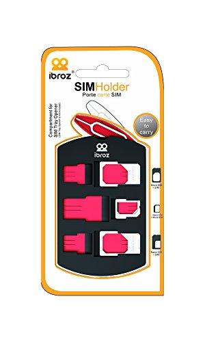 - IBROZ – Estuche para Tarjetas SIM + Adaptadores de Nano SIM a Micro, de Nano SIM a Standard SIM y de Micro SIM a Standard SIM – convertidores para iPhone 4/5/6 - iPad 4 - 3 - 2 - mini + +