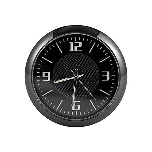 Auto Armaturenbrett Uhr,MoreChioce Quartz Round Stick On Analog Auto Uhr Mini Quarzuhren Uhr Ornamente Tasche Mini Uhr für Schreibtisch Büro Boot Zuhause Tasche,Schwarz