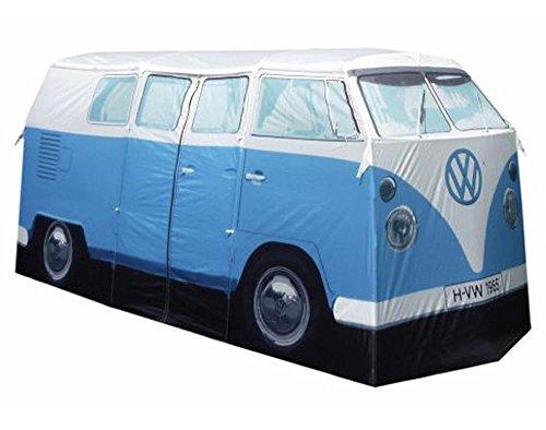 AE–VW Bulli Bus–Azul–Tienda de acampada en Juego con potente LED Funda para faros delanteros