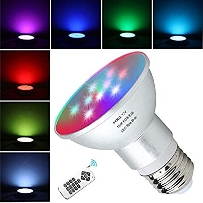 LED Spa Light Bulb 120V RGB 15W Color Changing LED Spa Replacement Bulb with Remote Control E26 Base Br20 RGB Bulb for Pentair Hayward Jandy Hot Tub Fixtures (Battery Not Included)