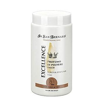 Global Parfum en poudre Excellence avec arôme à talc pour chiens   Parfum IV San Bernard traditionnel   Eau de toilette en poudre pour chiens 80 g