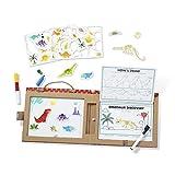 Melissa & Doug Natural Play: Juega-Dibuja-Crea Kit Reutilizable Para Dibujo e Imanes – Dinosaurios (41 Imanes, 5 Marcadores de Borrado en Seco)