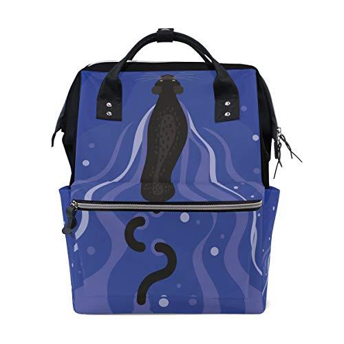 DEZIRO Canvas Zwarte Panter Daypack voor Vrouwen Rugzakken