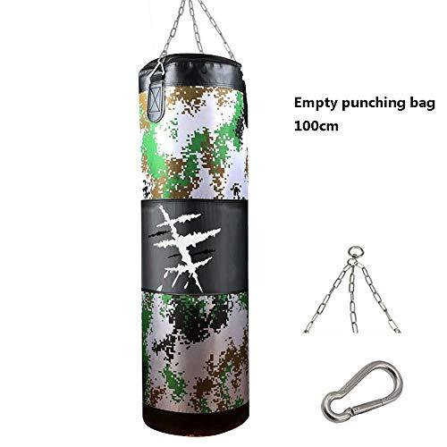 80 100CM Lege Kick Boxing bokszak zandzak voor Volwassenenonderwijs MMA Muay Thai Sport Fitness Training Exercise Equipment,Green,100cm