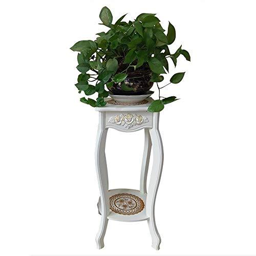 YINUO Étagère à fleurs en bois massif européen salon intérieur multi-couche vert rose orchidée support de pot de fleur blanc moderne minimaliste nordique stand de fleurs (Size : 30x30x70cm)