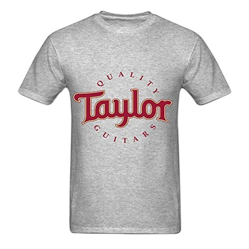 Funny Mens Taylor Quality Guitars Generic T-Shirt Crew Neck Medium Grey