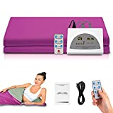 SILKFUN Infrared Personal Sauna Blanket, Fast Sweating Professional Fitness Machine at Home for Detoxification(with Button Battery/110V US Plug)(78x39inch)