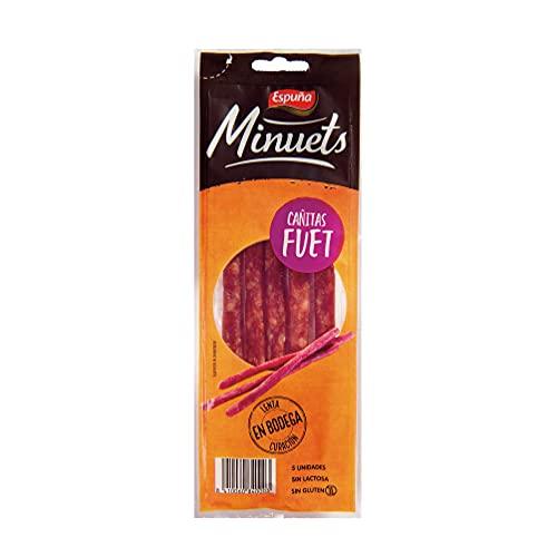 Espuña Minuets Fuet - Cañitas de Fuet / Longaniza. Caja de 18 envases individuales de 50 grs ideal para llevar.