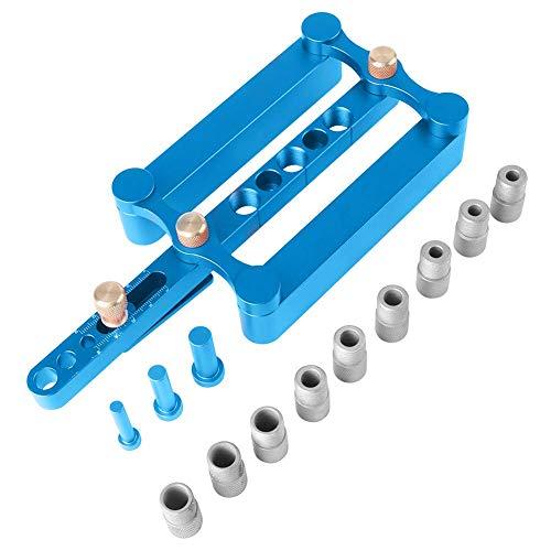 Loboo Idee Zelfcentrerende Doweling Jig Kit Punch Locator Dowel Jigs 6mm 3/8 5/16inch Boor Guide Sleeve Tools voor Houtbewerking Joinery