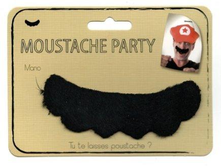 Gen 13 Moustache Noire Auto-adhésive Plombier Mario Adulte