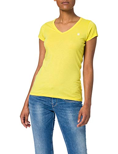 G-STAR RAW Eyben Slim Camiseta, Cab 2757-c339-Casco de Ciclismo, Color Amarillo Brillante,...