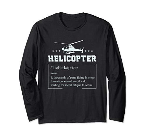 Helikopter Heli Hubschrauber Pilot Geschenke Langarmshirt