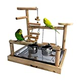 🐦100% NATURAL AND NON TOXIC --- Made of natural wood material,firm and environmental protection,safety to chew.The perch surface polished smooth,will not hurt the bird feet. 🐦HAVE A FUN ,TRAINING and EXERCISE to keep fit. This product can let your bi...