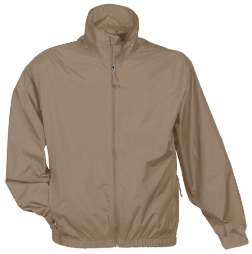 Tri Mountain Men's Lightweight Water Resistant Jacket, Khaki, X-Large