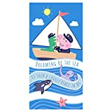 Carbotex Peppa Pig George Captain Beach Towel 300 GSM Cotton 28 x...