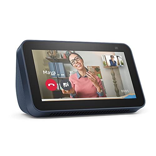 Nuovo Echo Show 5 (2ª generazione, modello 2021) | Schermo intelligente con Alexa e telecamera da 2 MP | Blu notte
