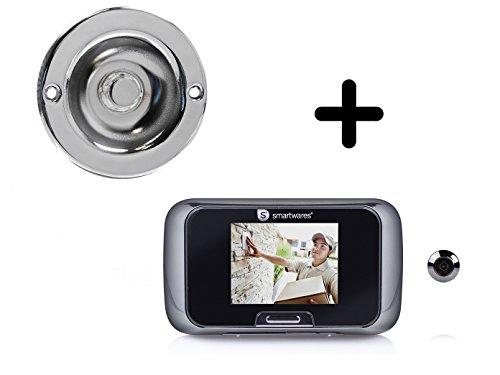Set: Deurbel & deurspion met camera en scherm, bel eengezinshuis