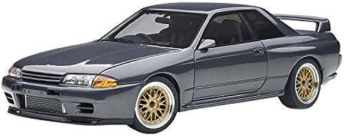 AUTOart Skyline GT R Wangan Midnight Nissan fürzeug Miniatur, 77411, grau Metall, Ma ab 1 18