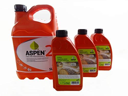Aspen 5L 2-Takt Alkylatbenzin mit 3L Kettenöl