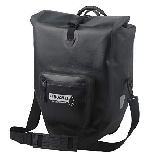 Büchel Premium Fahrradtasche für Gepäckträger I schwarz/grau I Schultergurt und Vordertasche I wasserdichter Reißverschluss I 100{7396d8f089b249e0f09735df04c9c8e376a386d0c0cf0c574aeb62c1a2514b50} PVC-freies Thermoplastisches Polyurethan