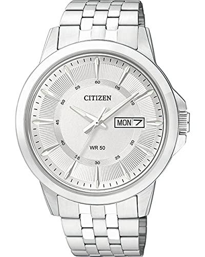 Citizen uomo-Orologio da polso al quarzo in acciaio inox BF2011-51AE