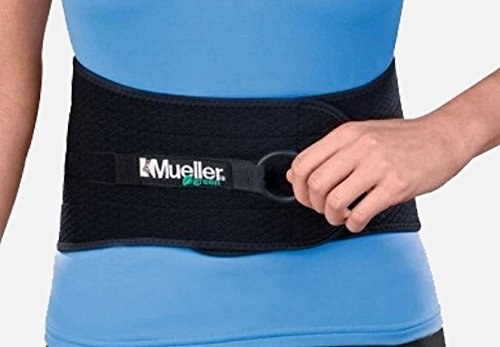 Mueller Green Adjustable Back and Abdominal Support, Black, One Size   Mueller Green is made from recycled materials