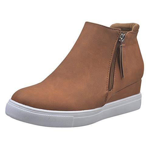 YWLINK Botas Cortas De Talla Grande para Mujer Zapatos De Lona con...