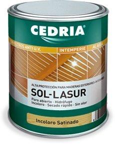 CEDRIA Sol Lasur Incoloro Satinado 750 ml