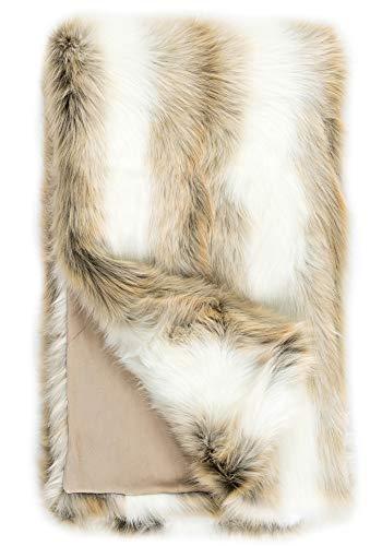 Donna Salyers Faux Fur Throw Blanket - Arctic Fox (60x60) -  Fabulous-Furs