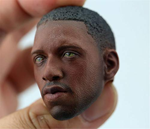 "HiPlay 1/6 Scale Afican American Male Figure Head Sculpt Series, Handsome Men Tough Guy , Doll Head for 12"" Action Figure Phicen, TBLeague, HT HS004(F)"