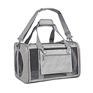 EOOORL Pet Carrier Cat Carriers Dog Carrier for Small Medium Cats Dogs Puppies TSA Airline Approved Small Dog Carrier Soft Sided, Collapsible Puppy Carrier
