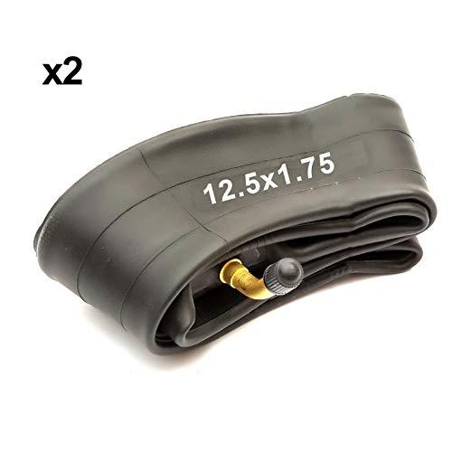 2x Interior Tubo 12.5x1.75 12.50x1.75 45 Grados Bent Schradar Válvula Cochecito Silla de Bebé Cochecito Buggy