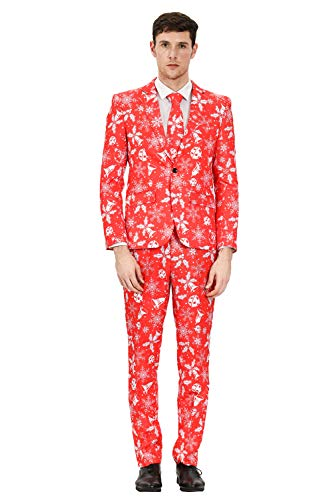 MAGE MALE Men's Ugly Christmas Suits in Different Prints The Lumberjack Party Suit Include Jacket...