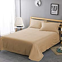 Morano Biege Single Flat Sheet Set - 2 Piece Set