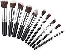 Generic Makeup Brushes Mini 10 Pcs Set(Black_WL006_Black)