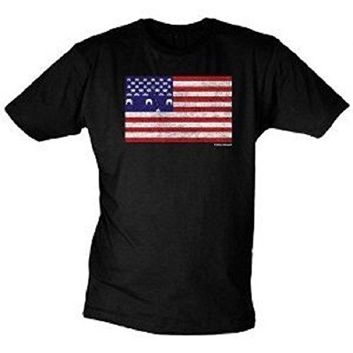 American Flag Arcade T-Shirt Stars & Stripes Fun Shirt in Größe XL