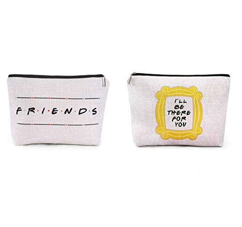 Brital Friends Makeup Bag Friends TV Show Merchandise Yellow Peephole Frame Travel Waterproof Toiletry Cosmetic Bag for Friends Fans