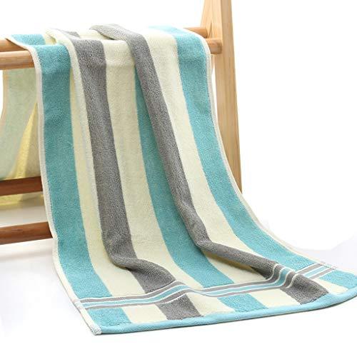 ECSWP NMDEKS 2 Piezas de algodón a Rayas de Color de Viaje Largo Hotel Hostel Toalla portátil Gimnasio Yoga Correr Toalla Grande Playa Sol Toallas de baño Amantes Regalo (Color : Blue)