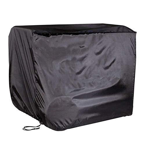 Huolirong Funda Protectora para Muebles Impermeable Rectangular Cubierta del Patio Mesa Y Sillas, Negro Muebles De Jardín Funda (Color : Black, Size : 242×162×100CM)