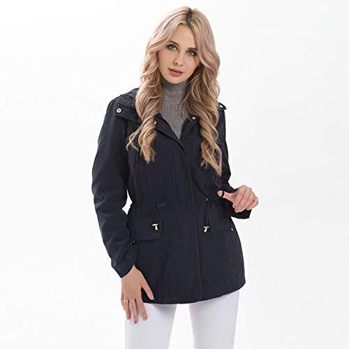 YHXMG Dames Tops Dames Jassen Vrouwen Herfst Winter Jassen Verstelbare Taille Verwijderbare Hood Plus Size Vrouwelijke Bovenkleding